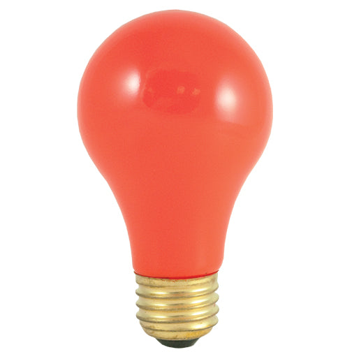 Bulbrite 40A/CO 40 Watt Incandescent A19 Party Bulb, Medium Base, Ceramic Orange