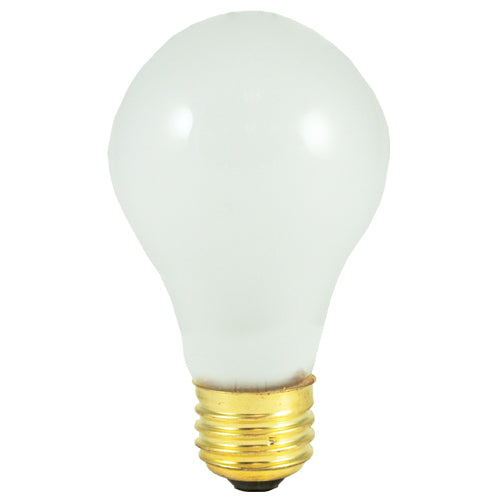 Bulbrite 50A19F/12 50 Watt Incandescent A19 Bulb, Medium Base, Frost, 2-Pack