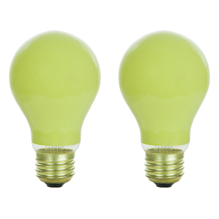 Sunlite 25 Watt A19 Colored, Medium Base, Ceramic Yellow