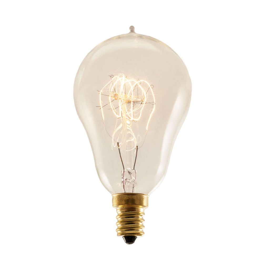 Bulbrite NOS25A15/LP/E12 25 Watt Nostalgic Incandescent Edison A15, Vintage Loop Filament, Candelabra Base, Antique Finish