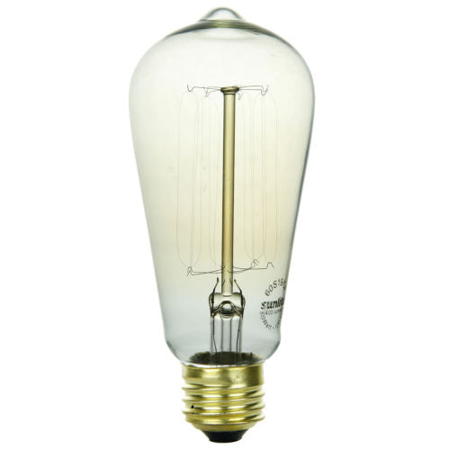 Sunlite 40 Watt Antique Edison Style S19, Medium Base, Smoke, 3 Pack