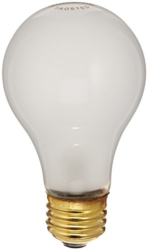 Bulbrite 25A19F/12 25 Watt Incandescent A19 Bulb, Medium Base, Frost, 2-Pack