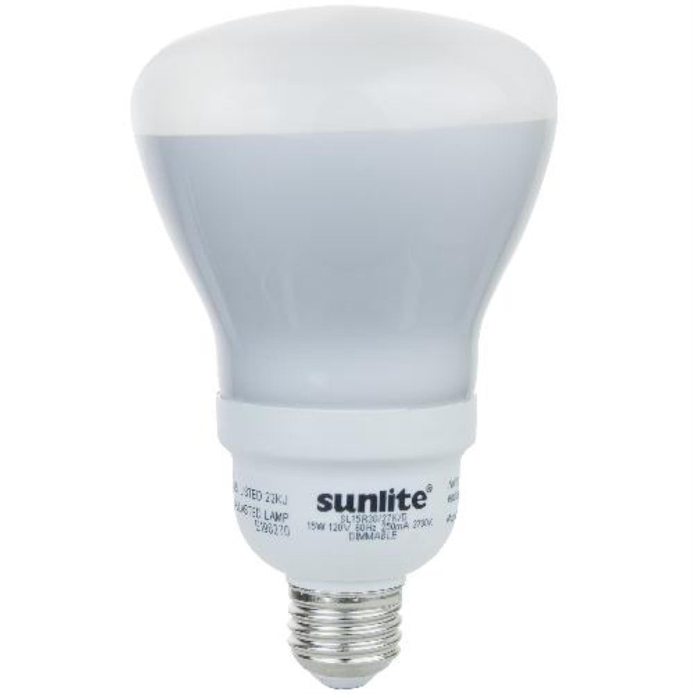 Sunlite 15 Watt R30 Reflector Warm White Medium Base CFL Light Bulb
