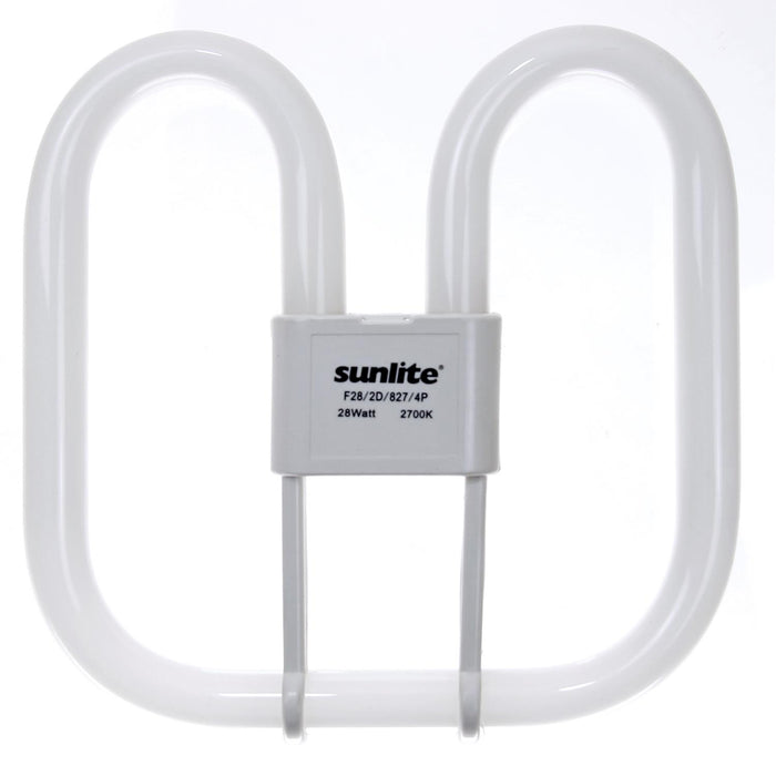 Sunlite 28 Watt 2D Lamp, GR10Q Base, Warm White