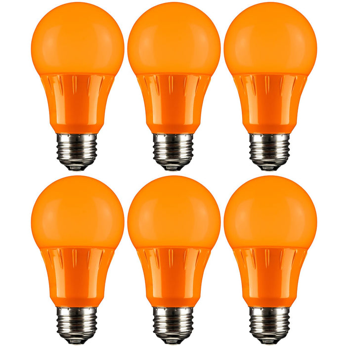 Sunlite LED A Type Colored 3W Light Bulb Medium (E26) Base, Orange