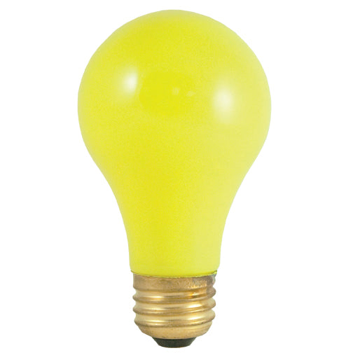 Bulbrite 40A/CY 40 Watt Incandescent A19 Party Bulb, Medium Base, Ceramic Yellow