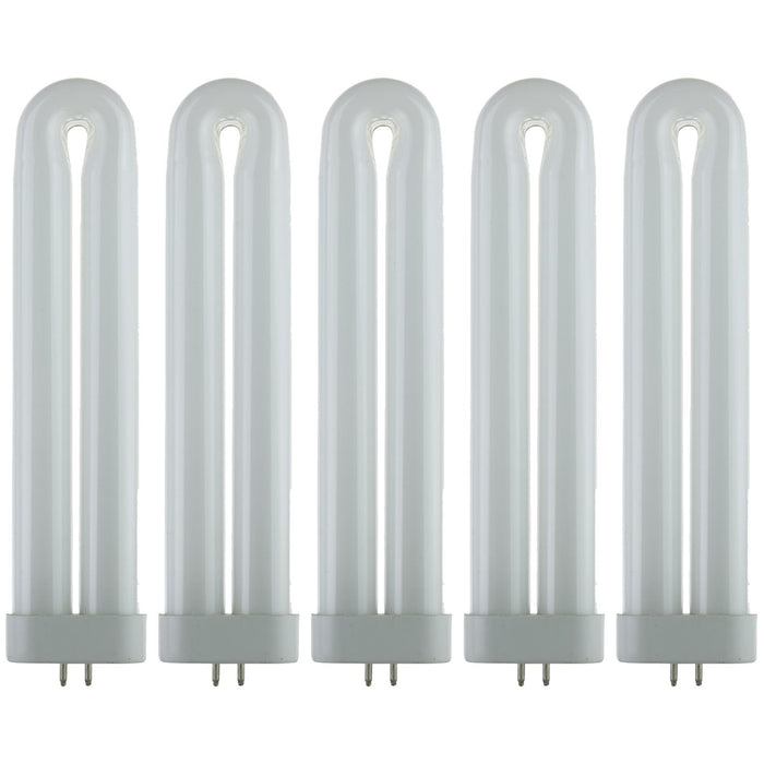 Sunlite FUL12T6/CW Fluorescent 12W Cool White U Shaped FUL Twin Tube Plugin Lamps,  GX10Q Base, 4100K Cool White