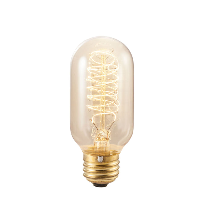 Bulbrite NOS40T14 40 Watt Nostalgic Incandescent Edison Torch Spiral T14, Medium Base, Antique Finish