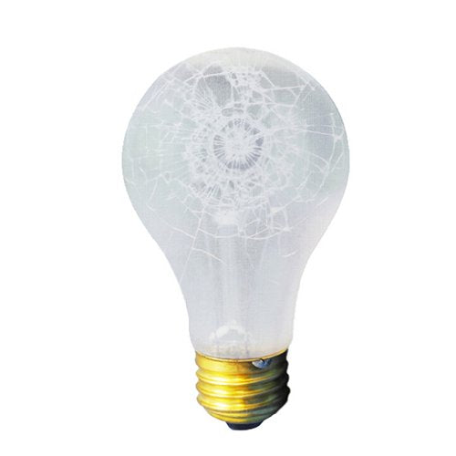 Bulbrite 75A/RS/TF 75 Watt Incandescent Shatter Resistant A19 Bulb, Medium Base, Frost, Tough Coat