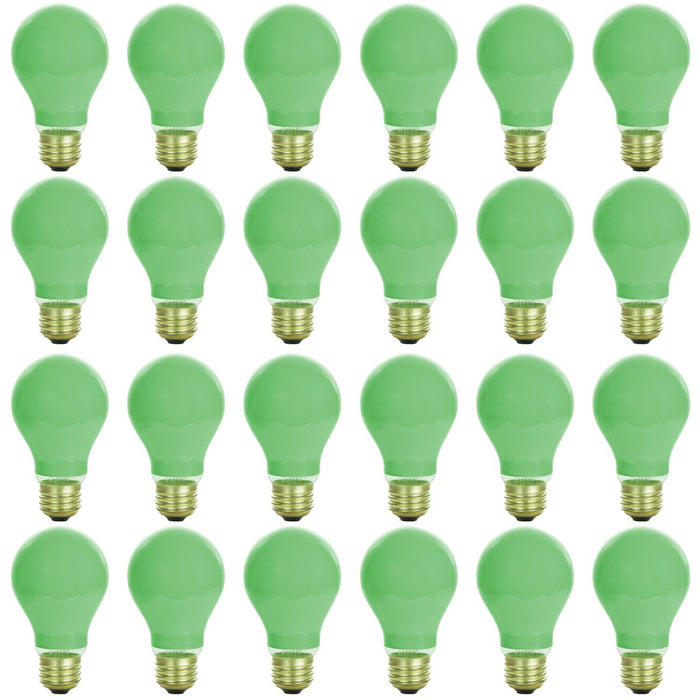 Sunlite 40 Watt A19 Colored, Medium Base, Ceramic Green