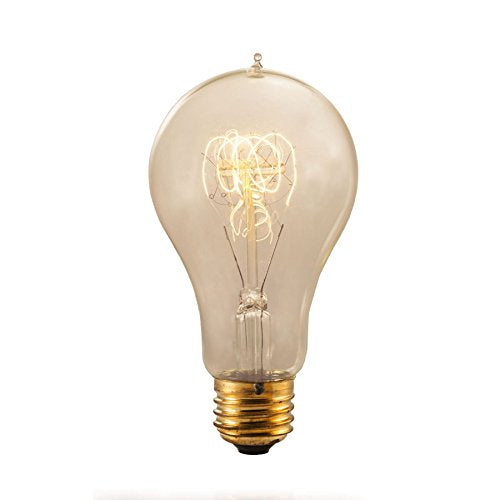 Bulbrite NOS40-VICTOR/A21 40 Watt Nostalgic Incandescent Edison A21, Victorian Loop Filament, Medium Base, Antique Finish