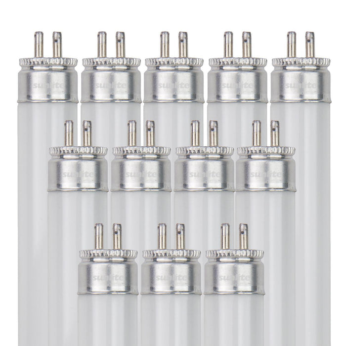 Sunlite F14T5/841/12PK 14 Watt T5 High Performance Straight Tube Mini Bi-Pin (G5) Base, 4100K Cool White
