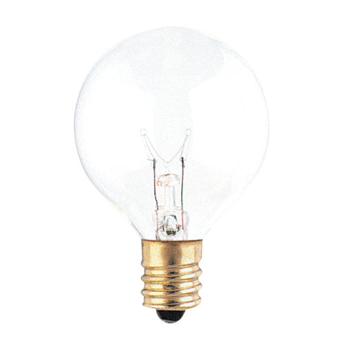 Bulbrite 25G12CL 25 Watt Incandescent G12 Globe, Candelabra Base, Clear