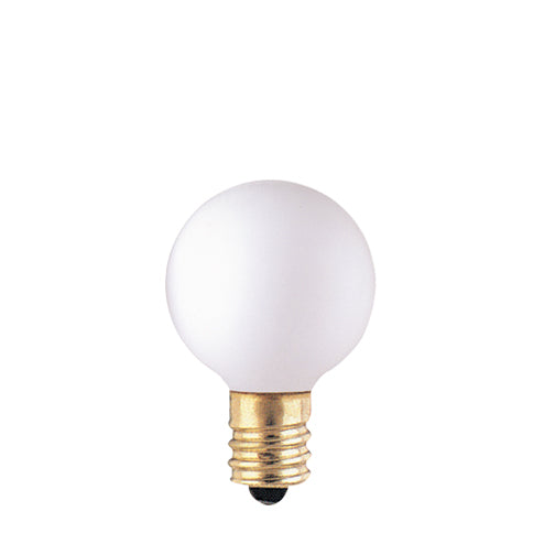 Bulbrite 10G9WH 10 Watt Incandescent G9 Globe, Candelabra Base, White