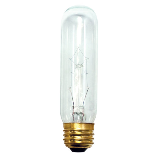 Bulbrite 15T10C 15 Watt Incandescent Showcase/Aquarium/Display T10 Tubular Bulb, Medium Base, Clear