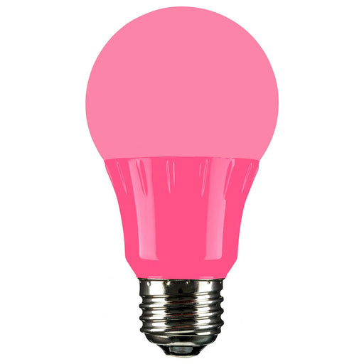 Sunlite LED A Type Colored 3W Light Bulb Medium (E26) Base, Pink