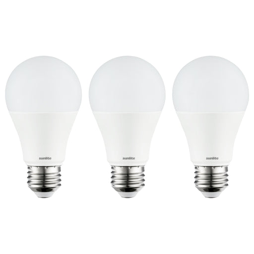 Sunlite 80688-SU 3-Pack LED A19 Light Bulbs, 9 Watts (60W Equivalent), Medium Base (E26), Non-Dimmable, Frost, UL Listed, 40K - Cool White 3 Pack