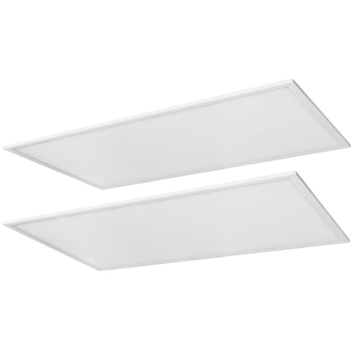 2-Pack Sunlite 2x4 Foot LED Lay-in Light Panel Fixtures, Color Tunable (35K/40K/50K), Power Tunable (20W/30W/40W), 120/277 Volt, Dimmable, White Finish, 50,000 Hour Life Span, ETL & DLC Listed