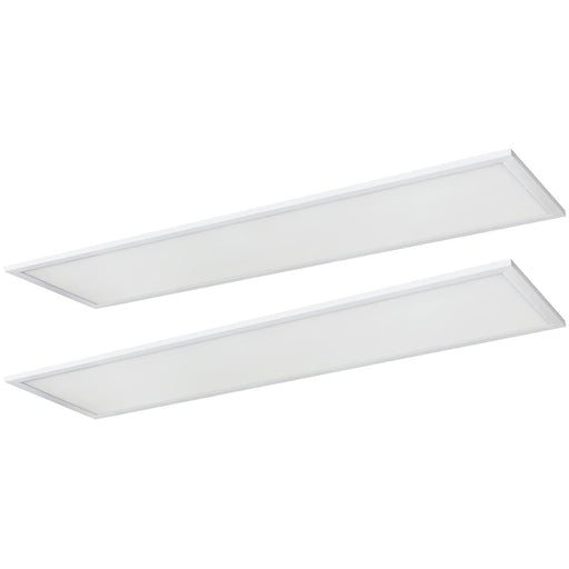 2-Pack Sunlite 1x4 Foot LED Lay-in Light Panel Fixtures, Color Tunable (35K/40K/50K), Power Tunable (20W/30W/40W), 120/277 Volt, Dimmable, White Finish, 50,000 Hour Life Span, ETL & DLC Listed