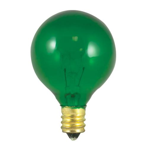 BULBRITE INCANDESCENT G12 CANDELABRA SCREW (E12) 10W DIMMABLE LIGHT BULB TRANSPARENT GREEN 25PK (304010)