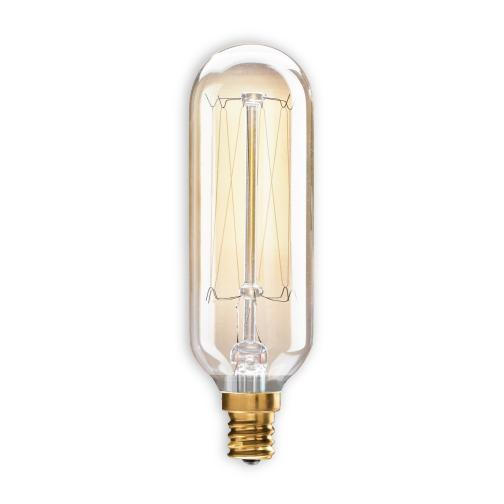 BULBRITE INCANDESCENT T8 CANDELABRA SCREW (E12) 40W DIMMABLE NOSTALGIC LIGHT BULB 2200K/AMBER 4PK (132517)
