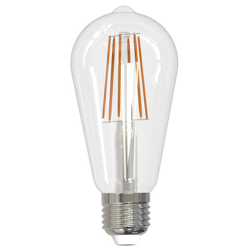 BULBRITE LED ST18 MEDIUM SCREW (E26) 8.5W FULLY COMPATIBLE DIMMING FILAMENT LIGHT BULB 3000K/SOFT WHITE 60W INCANDESCENT EQUIVALENT 2PK (774139)