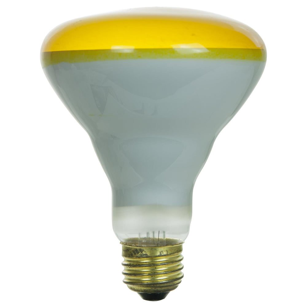 Sunlite 65 Watt BR30 Colored Reflector, Medium Base, Yellow