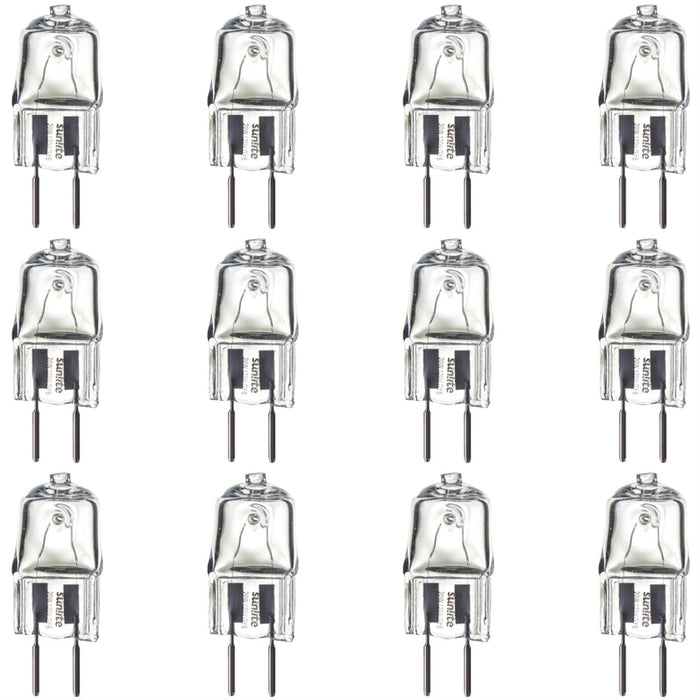 Sunlite Q20/CL/GY6.35/120V 20 Watt Bi-Pin Lamp GY6.35 Base