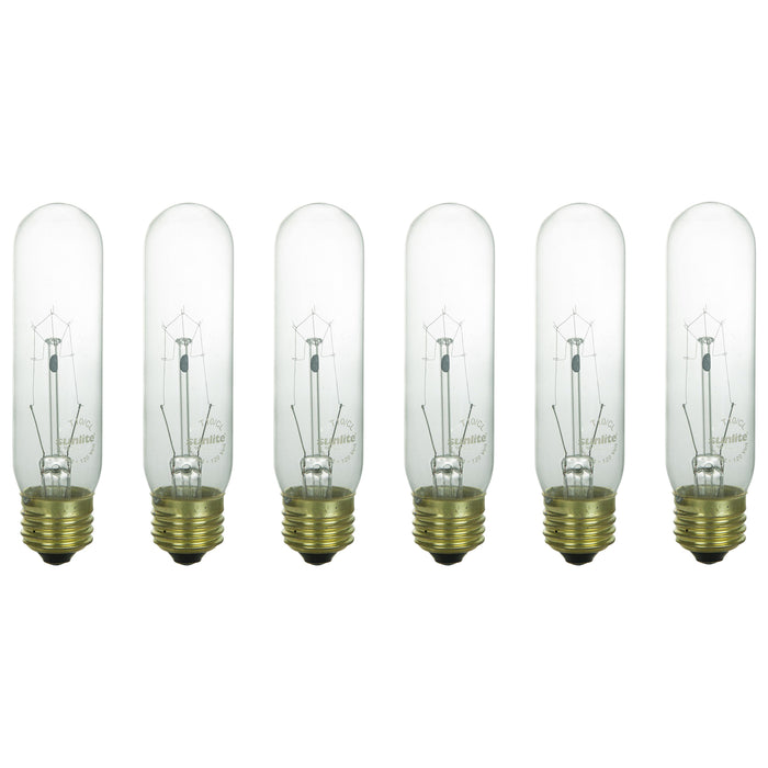 Sunlite 60 Watt T10 Tubular, Medium Base, Clear