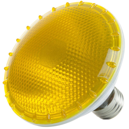Sunlite Halogen 75 Watt Yellow PAR30 Reflector Medium Base Light Bulb
