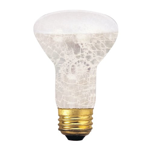 Bulbrite 50R20/TF 50 Watt Incandescent R20 Shatter Resistant Reflector, Medium Base, Tough Coat Frost