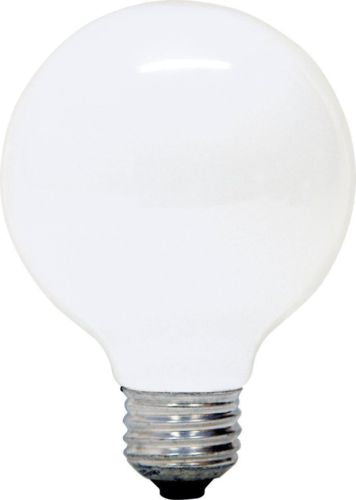 GE 12982 25-Watt G25 Globe Light Bulb, Soft White