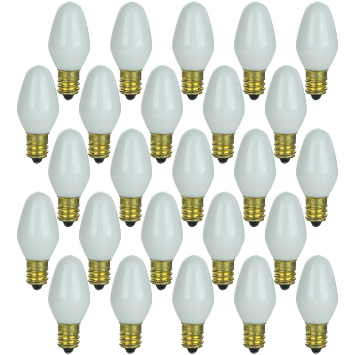 Sunlite 4 Watt C7 Night Light, Candelabra Base, White