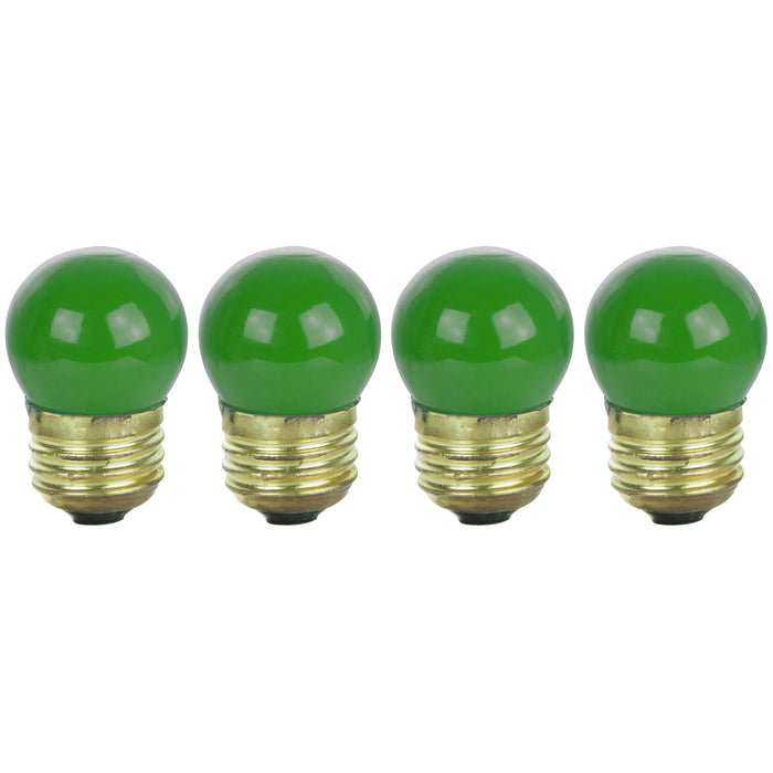 Sunlite 7.5 Watt S11 Colored Indicator, Medium Base, Ceramic Green