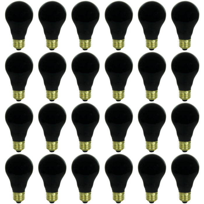 Sunlite 75 Watt A19 Black Light, Medium Base, Ceramic Blacklight