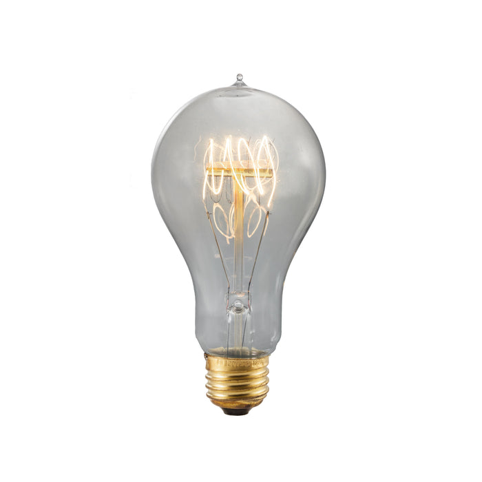 Bulbrite NOS40-VICTOR/SMK 40 Watt Nostalgic Edison A19 Bulb, Vintage Quad Loop Filament, Medium Base, Smoke Finish