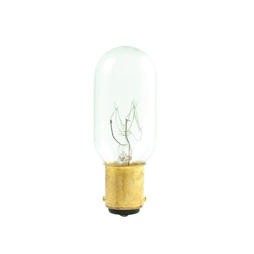 Bulbrite 25T8/DC 25 Watt Incandescent Showcase/Aquarium/Display T8 Tubular Bulb, Double Contact Bayonet Base, Clear