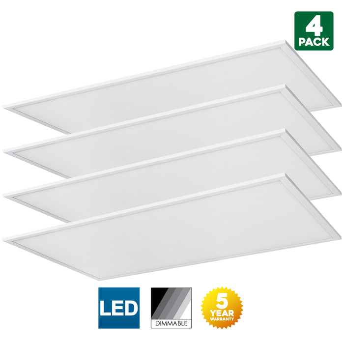 Sunlite LFX/2X4/60W/DLC/30K/D/MV/0-10V/2PK 60 Watt Integrated LED Lamp Warm White