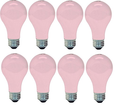 GE Lighting 97483 Incandescent Light Bulb, 60w, Soft Pink Beauty Bulb - Warm Glowing Light Enhances Skin Tones and Complexion