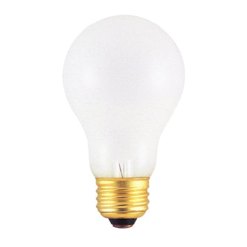 Bulbrite 60A/RS 60 Watt Incandescent  A19 Rough Service Bulb, Medium Base, Frost