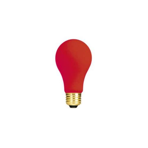 Bulbrite 40A/CR 40 Watt Incandescent A19 Party Bulb, Medium Base, Ceramic Red