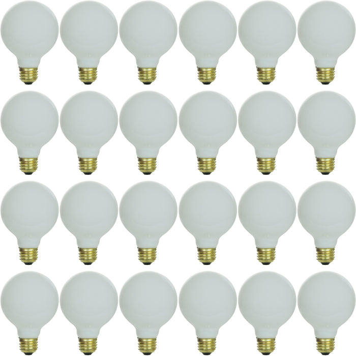Sunlite 40 Watt G25 Globe, Medium Base, White