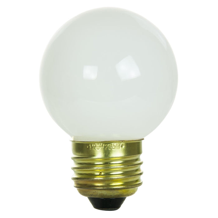 Sunlite 40 Watt G16 Globe, Medium Base, White