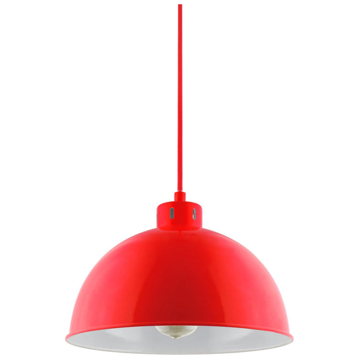Sunlite CF/PD/S/R Red Sona Residential Ceiling Pendant Light Fixtures With Medium (E26) Base