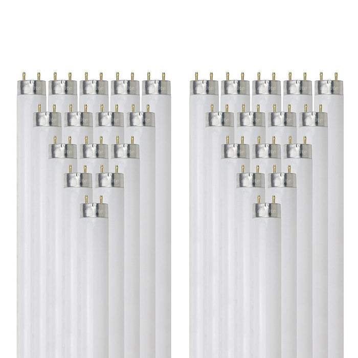 Sunlite 32 Watt T8 High Performance Straight Tube, Medium Bi-Pin Base, Super White