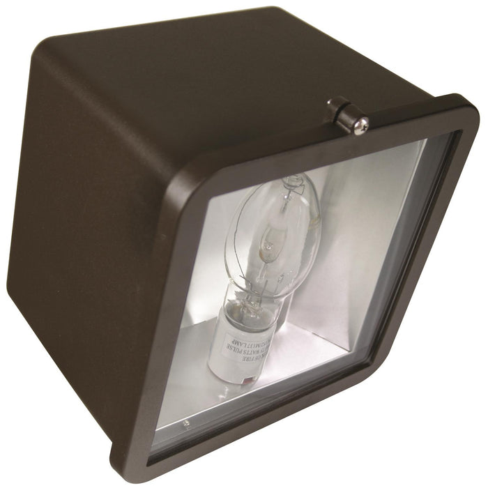 Sunlite 175 Watt Pulse Start Metal Halide Medium Floodlight Fixture, Bronze Powder Finish, Clear Tempered Glass