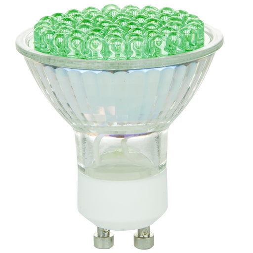 MR16 Colored Mini Reflector, GU10 Base, Green