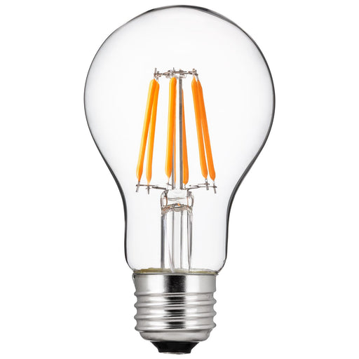 Sunlite 80188 LED Filament A19 Standard Light Bulb 6 Watts (40 Watt Equivalent) Clear Dimmable Light Bulb 2700K - Warm White 1 Pack
