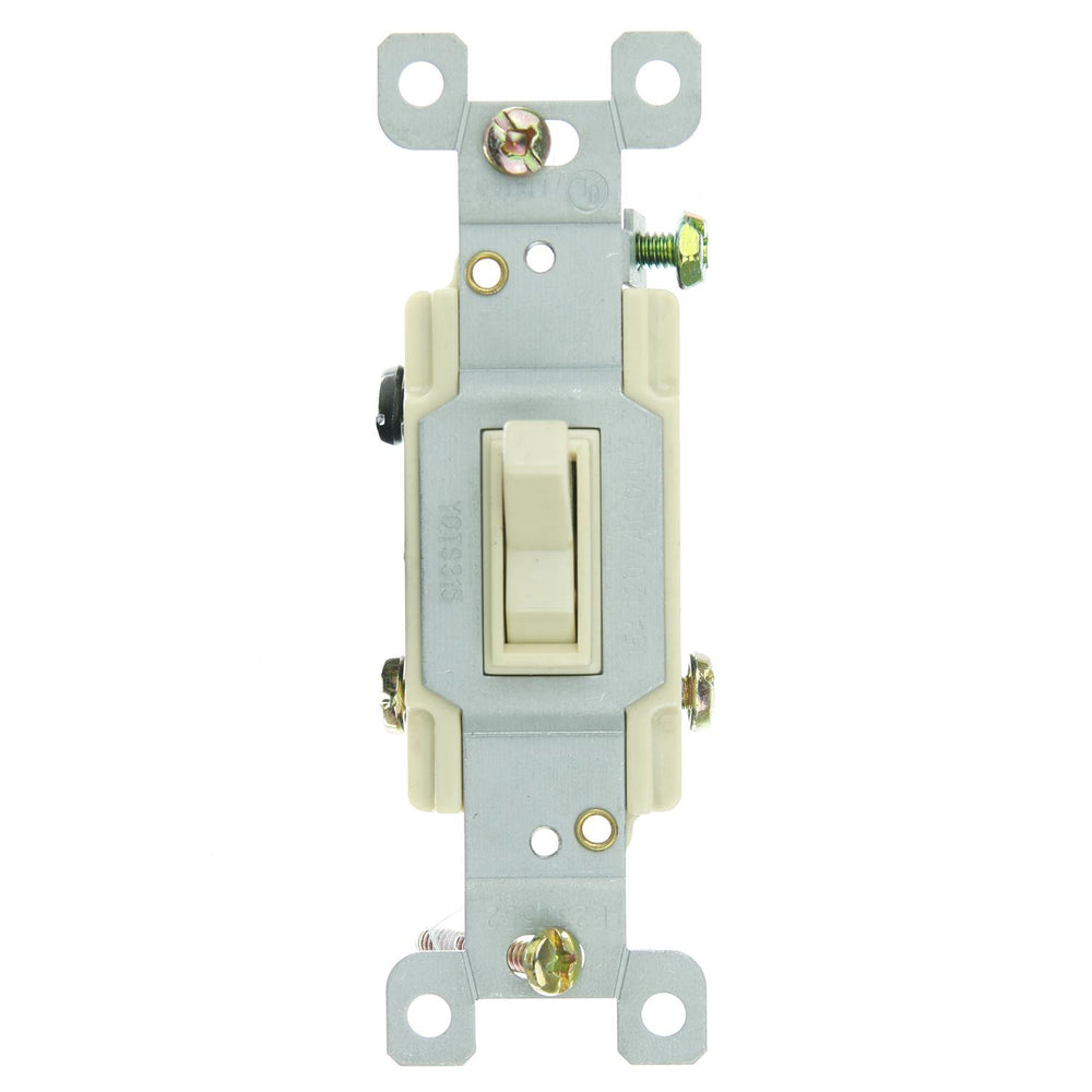 Sunlite E508 3 Way Grounded Toggle Switch, Ivory
