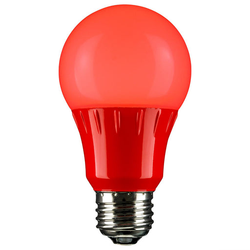Sunlite LED A Type Colored 3W Light Bulb Medium (E26) Base, Red
